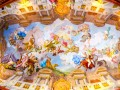 MELK  AUSTRIA  MAY 16  2015 ceiling painting in Melk Abbey in Melk  Austria. Abbey Church is considered one of the most beautiful in Austria  built in baroque style.